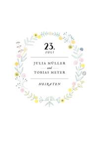 Hochzeitseinladung Blütenzauber weiss