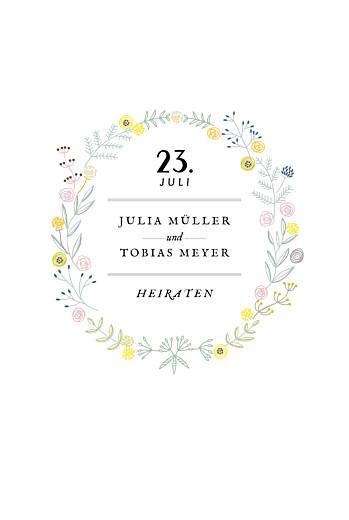 Hochzeitseinladungen Blütenzauber weiss