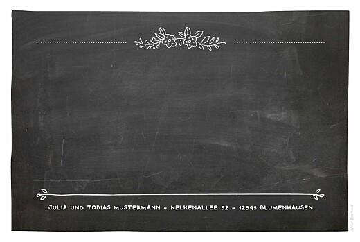 Geburtskarten Kreidetafel blumen schwarz - Seite 2