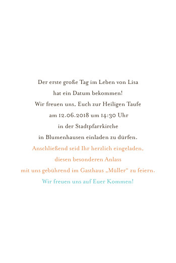 Taufeinladung Kirche gelb & tuerkis - Seite 3
