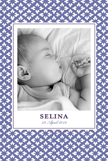 Geburtskarten Lissabon hoch violett