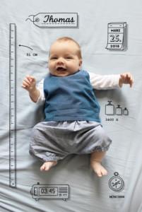 Geburtskarte Kleinkram weiss