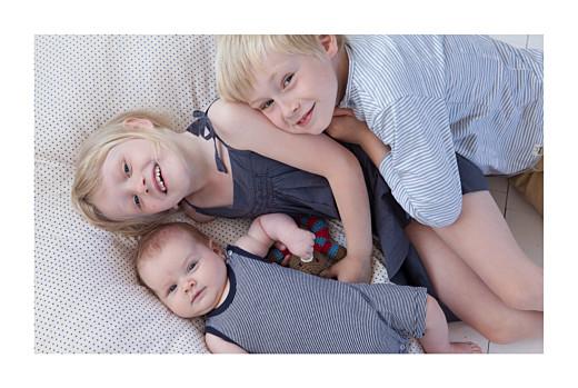 Geburtskarten Klassiker 6 fotos weiss