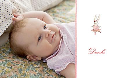 Dankeskarten Pirouette foto rosa finition