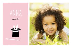 Geburtstagskarten kinder mit foto simsalabim rosa