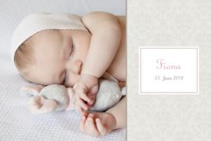 Geburtskarte Arabesk 6 fotos rosa