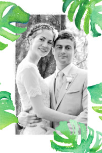 Dankeskarten Hochzeit Acapulco weiß & grün