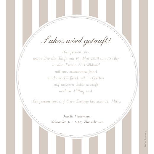 Taufeinladung Delikat graubraun - Seite 2