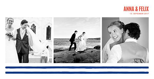 Dankeskarten Hochzeit Marine - Atelier Rosemood