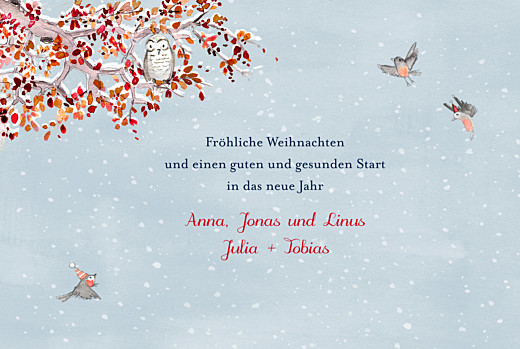 Weihnachtskarten Wintermärchen blau - Seite 3