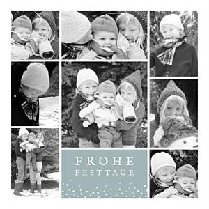 Weihnachtskarte Erinnerung 8 fotos sterne gruengrau