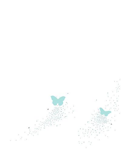 Hochzeitseinladungen Schmetterlinge zartblau & weiss - Seite 2