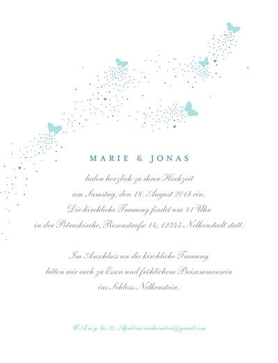 Hochzeitseinladungen Schmetterlinge zartblau & weiss - Seite 3