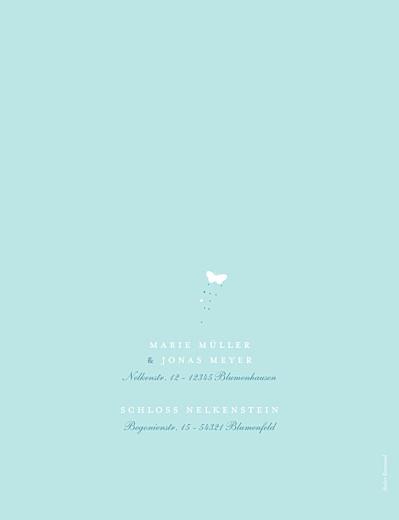 Hochzeitseinladungen Schmetterlinge zartblau & weiss - Seite 4