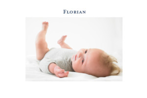 Geburtskarte Klassiker 2 fotos weiss