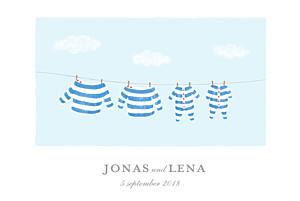 Geburtskarten zwillinge wäscheleine marine zwillinge blau