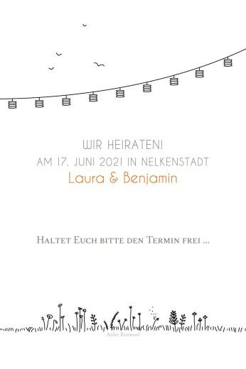 Save-the-Date Karten Feldhochzeit weiß - Seite 2