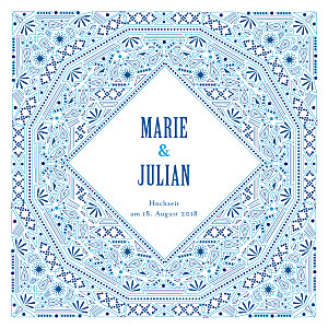 Hochzeitseinladungen mediterran blau