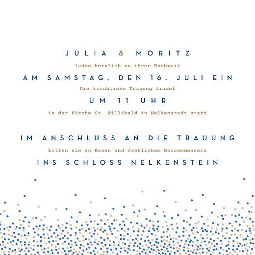 Hochzeitseinladungen Confetti blau - Seite 3