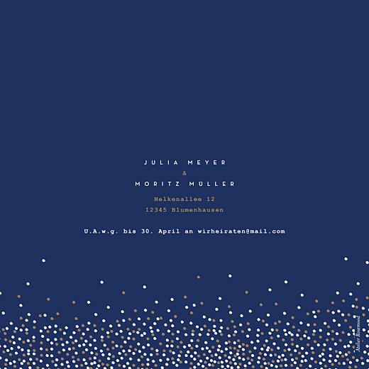 Hochzeitseinladungen Confetti blau - Seite 4