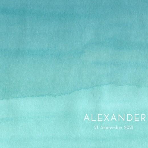 Geburtskarte Aquarell blau