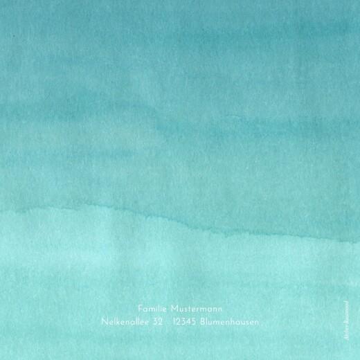 Geburtskarten Aquarell blau