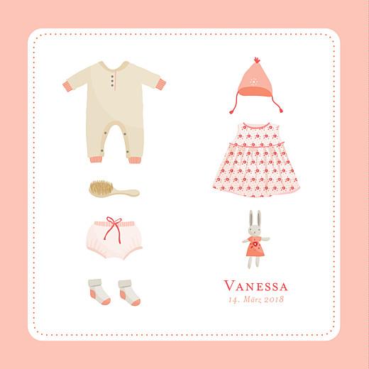 Geburtskarten Mein erster koffer rosa