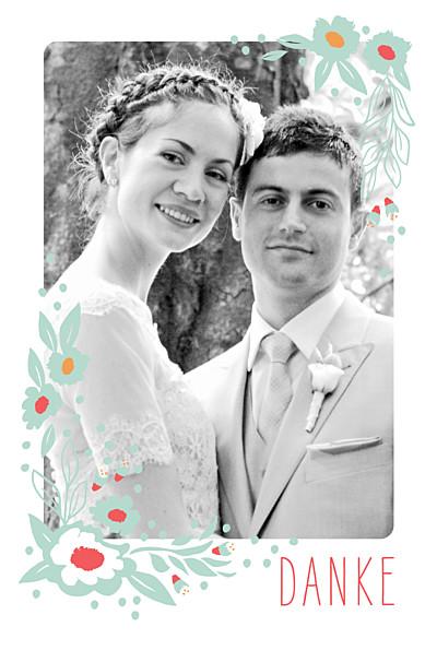 Dankeskarten Hochzeit Eden grün finition