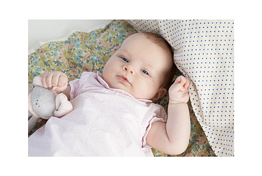 Geburtskarte Lovely family 2 kinder  mädchen
