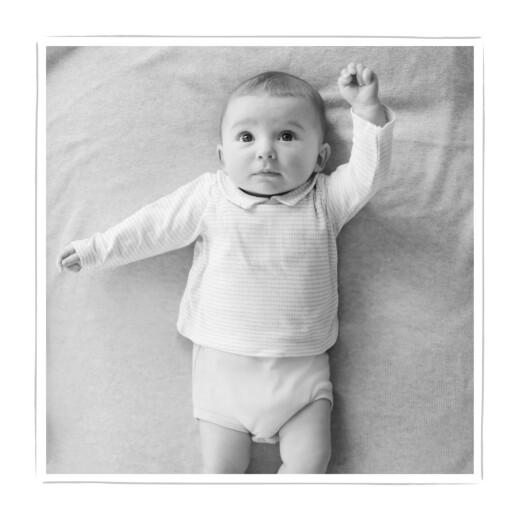Geburtskarte Leporello mein schatz weiß