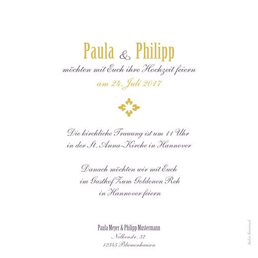 Hochzeitseinladungen Lissabon ocker - Seite 2