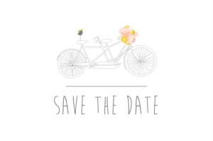 Save-the-Date Karten Tandem rosa