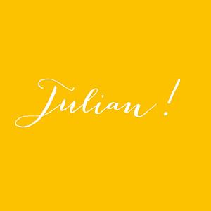 Geburtskarten gelb leporello my name gelb