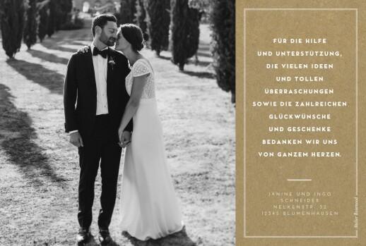 Dankeskarten Hochzeit Medaillon 4 fotos lang kraft - Seite 2