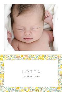 Geburtskarten gelb blütentraum 4 fotos gelb