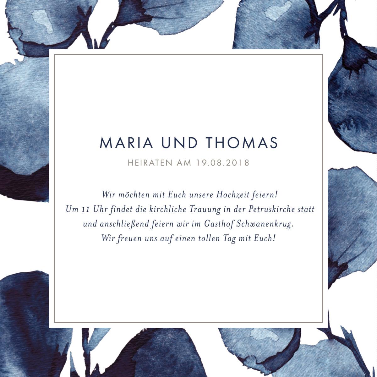 Rosemood: Hochzeitseinladungen Blütenblätter