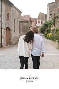 Hochzeitseinladungen klassisch einzigartig weiß