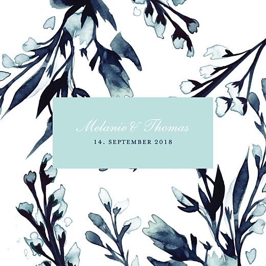 Hochzeitseinladung Mitternachtsblau blau