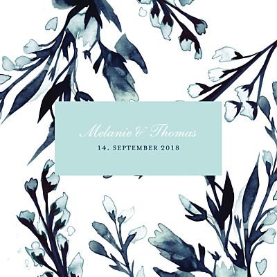 Hochzeitseinladung Mitternachtsblau blau finition