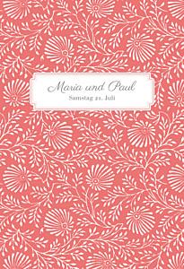 Hochzeitseinladungen mr & mrs clynk  idylle koralle
