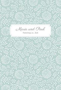 Hochzeitseinladungen mr & mrs clynk  idylle zartgrün
