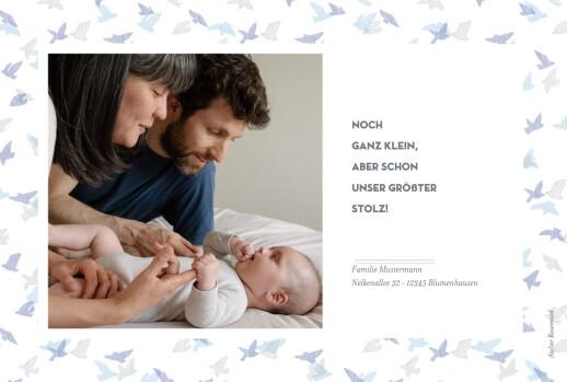 Geburtskarten Schwalbe 2 fotos blau - Seite 2