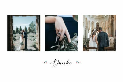 Dankeskarten Hochzeit Blütezeit weiß