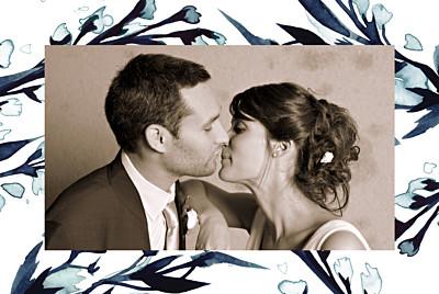 Dankeskarten Hochzeit Mitternachtsblau blau finition