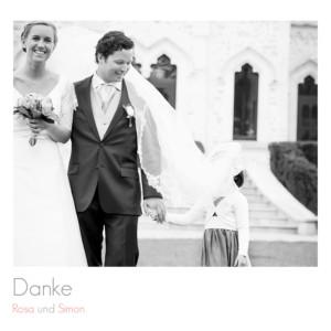 Dankeskarten Hochzeit Portfolio leporello weiß