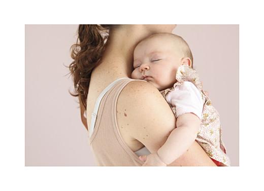 Geburtskarte Lovely family 3 kinder 3 fotos mädchen