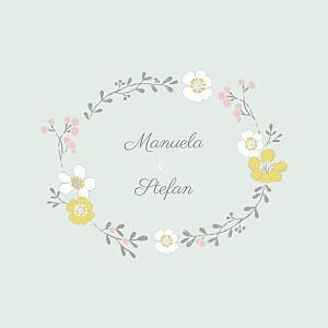 Hochzeitseinladungen mr & mrs clynk  frühlingsblumen grün