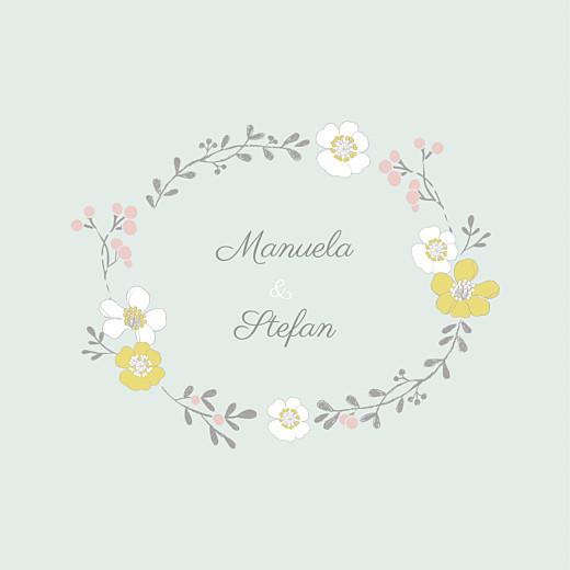 Hochzeitseinladungen Frühlingsblumen grün