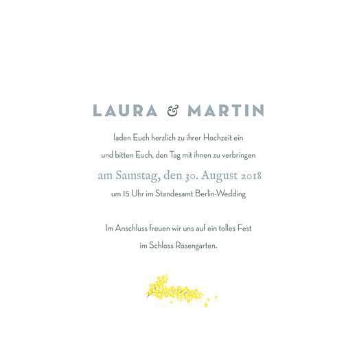 Hochzeitseinladungen Mimose gelb - Seite 3