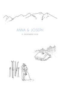 Hochzeitseinladungen Winterhochzeit weiß